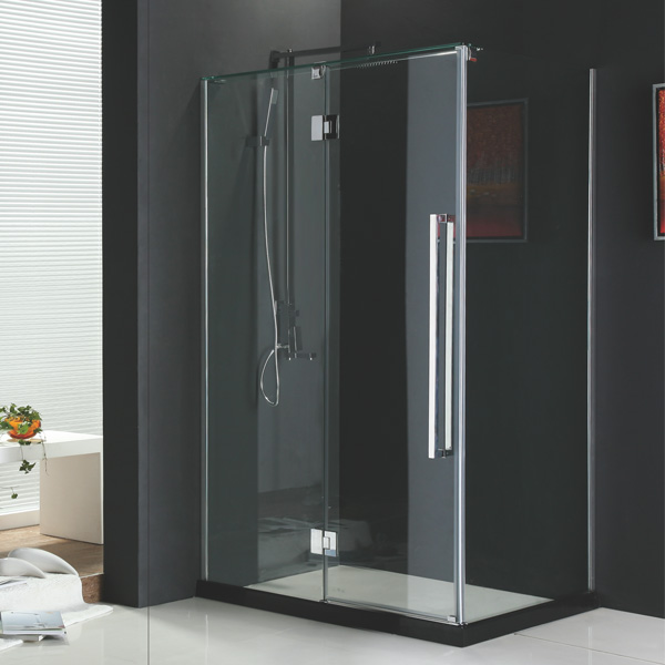 L Type Glass Shower Enclosure All Glass